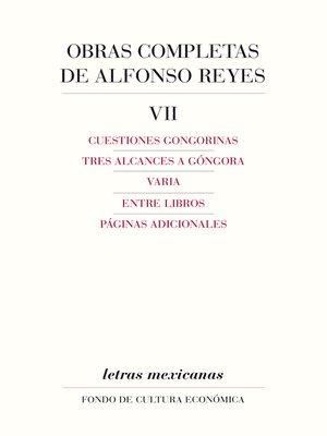 cover image of Obras completas, VII