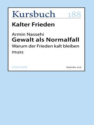 cover image of Gewalt als Normalfall