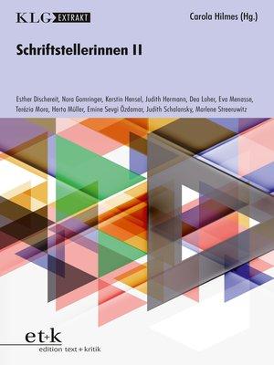 cover image of KLG Extrakt--Schriftstellerinnen II