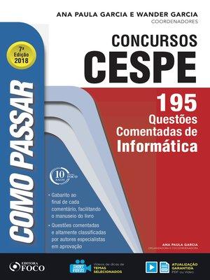 cover image of informática: 195 questões comentadas de informática
