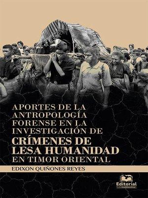 cover image of Aportes de la antropología forense en la investigación de