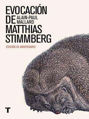 cover image of Evocación de Matthias Stimmberg