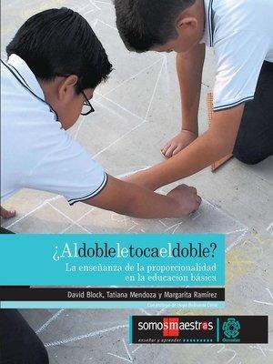 cover image of ¿Al doble le toca el doble?