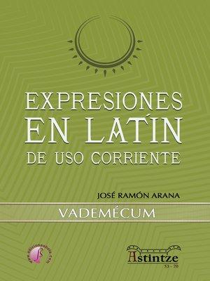 cover image of Expresiones en latín de uso corriente