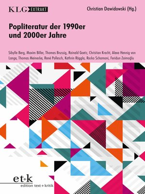 cover image of KLG Extrakt--Popliteratur der 1990er und 2000er Jahre