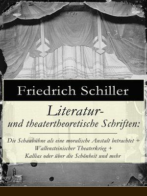 cover image of Literatur- und theatertheoretische Schriften