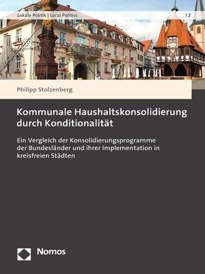 cover image of Kommunale Haushaltskonsolidierung durch Konditionalität
