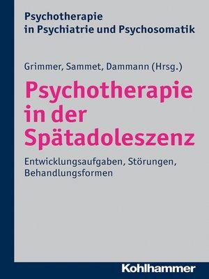 cover image of Psychotherapie in der Spätadoleszenz
