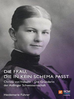 cover image of Die Frau, die in kein Schema passt