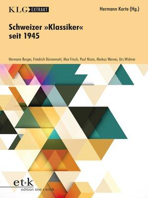 "cover image of KLG Extrakt--Schweizer ""Klassiker"" seit 1945"