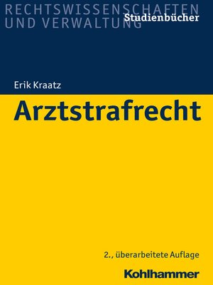 cover image of Arztstrafrecht
