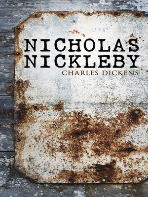 cover image of Nicholas Nickleby