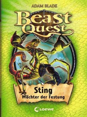 cover image of Beast Quest 18 – Sting, Wächter der Festung