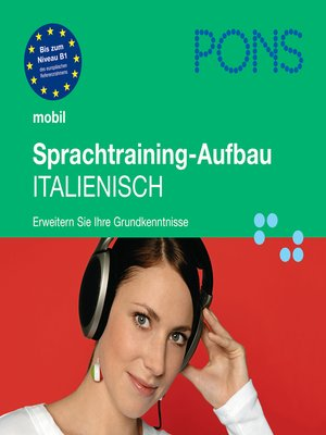 cover image of PONS mobil Sprachtraining Aufbau