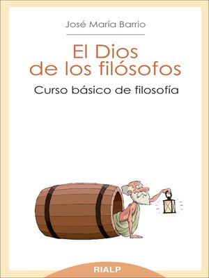 cover image of El Dios de los filósofos