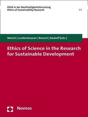 cover image of Ethics of Science in the Research for Sustainable Development