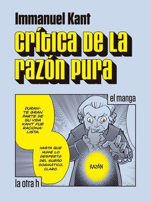 cover image of Crítica de la razón pura