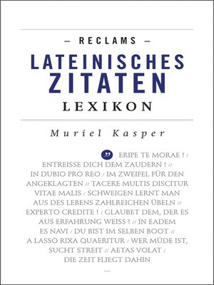 cover image of Reclams Lateinisches Zitaten-Lexikon