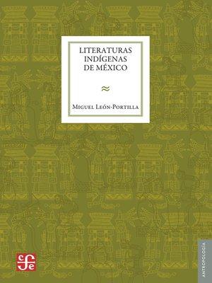 cover image of Literaturas indígenas de México