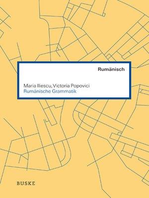 cover image of Rumänische Grammatik