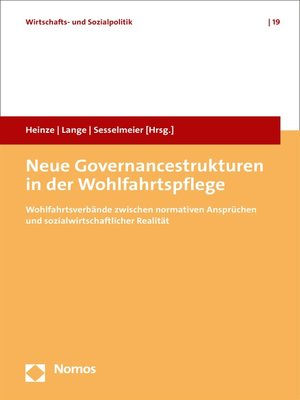 cover image of Neue Governancestrukturen in der Wohlfahrtspflege