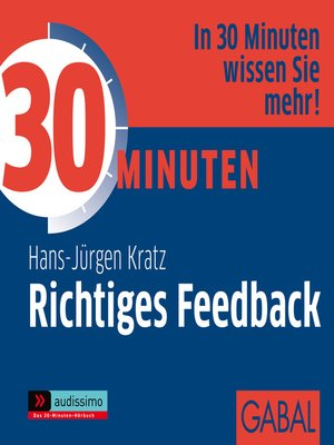cover image of 30 Minuten Richtiges Feedback