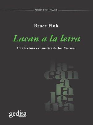 cover image of Lacan a la letra