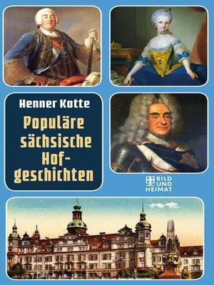 cover image of Populäre sächsische Hofgeschichten