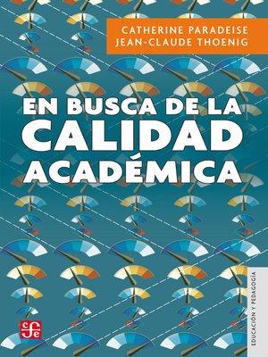 cover image of En busca de la calidad académica