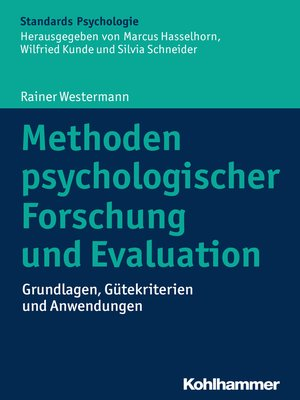 cover image of Methoden psychologischer Forschung und Evaluation