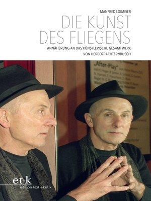 cover image of Die Kunst des Fliegens