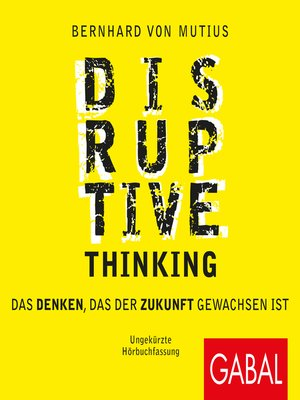 cover image of Disruptive Thinking