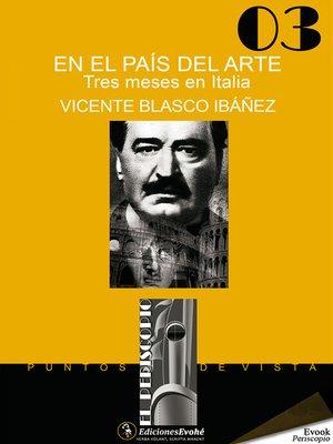 cover image of En el país del arte. Tres meses en Italia