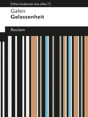 cover image of Gelassenheit