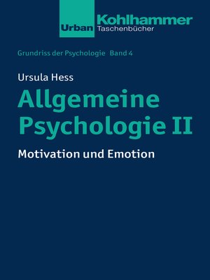 cover image of Allgemeine Psychologie II