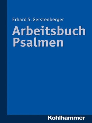 cover image of Arbeitsbuch Psalmen