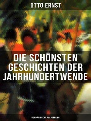 cover image of Die schönsten Geschichten der Jahrhundertwende