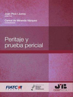 cover image of Peritaje y prueba pericial