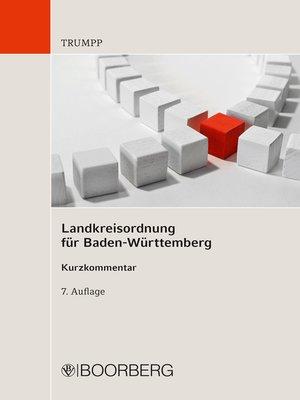 cover image of Landkreisordnung für Baden-Württemberg