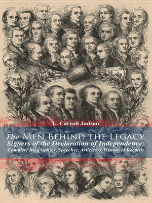 cover image of The Men Behind the Legacy--Signers of the Declaration of Independence