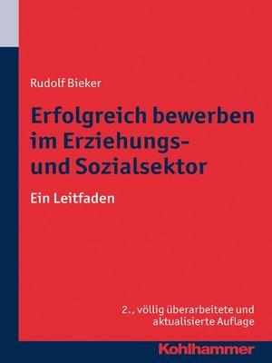 cover image of Erfolgreich bewerben im Erziehungs- und Sozialsektor