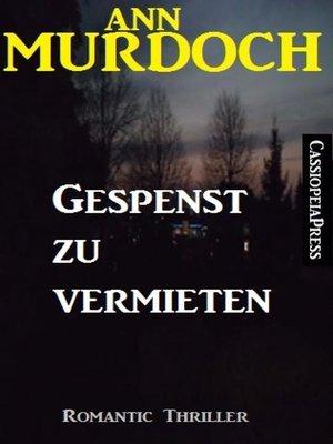 cover image of Gespenst zu vermieten