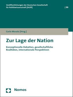 cover image of Zur Lage der Nation