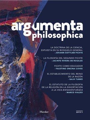 cover image of Argumenta philosophica 2019/1