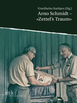"cover image of Arno Schmidt--""Zettel's Traum"""