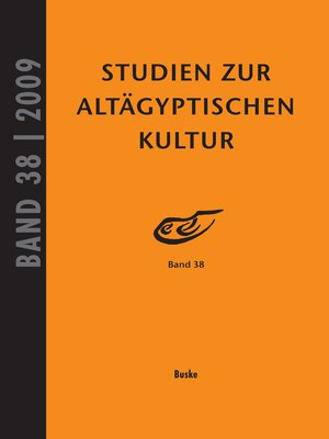 cover image of Studien zur Altägyptischen Kultur Band 38