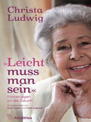 "cover image of ""Leicht muss man sein"""