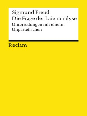 cover image of Die Frage der Laienanalyse