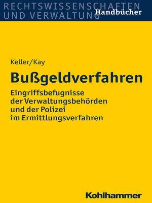 cover image of Bußgeldverfahren
