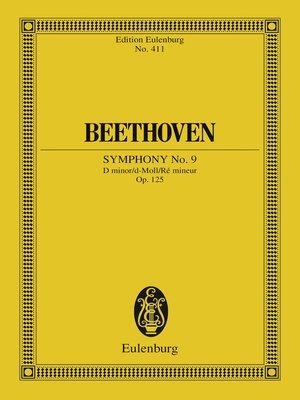 cover image of Symphony No. 9 D minor